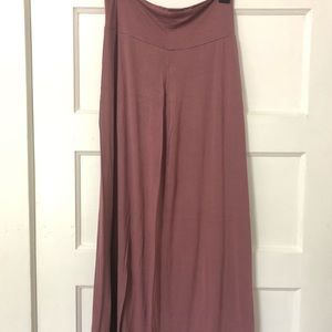 Charlotte Russe Dusty Rose Maxi Skirt